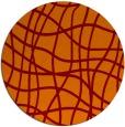 rug #219589 | round orange stripes rug