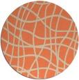 rug #219597 | round orange check rug