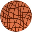 rug #219601 | round red-orange check rug