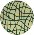 rug #219605 | round yellow check rug