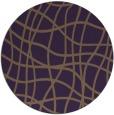 rug #219633 | round purple check rug