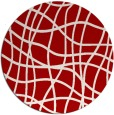 rug #219641 | round red check rug