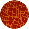 rug #219645 | round orange check rug