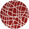 rug #219649 | round red check rug