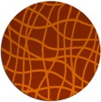 rug #219657 | round red-orange check rug