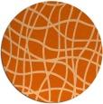 rug #219661 | round red-orange check rug