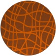 rug #219665 | round red-orange check rug