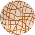 rug #219669 | round red-orange check rug