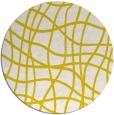 rug #219677 | round white check rug