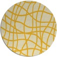 rug #219689 | round yellow check rug