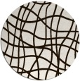 rug #219697 | round brown check rug