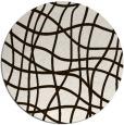 rug #219697 | round brown check rug
