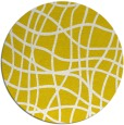 rug #219701 | round yellow check rug