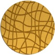 rug #219705 | round yellow check rug