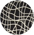 rug #219709   round black stripes rug