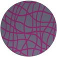 rug #219714   round check rug
