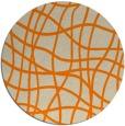rug #219717 | round orange check rug