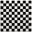rug #220109 | square white check rug