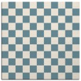rug #220129 | square white check rug