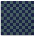 rug #220137 | square blue-green check rug