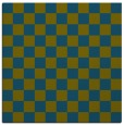 rug #220165 | square blue-green check rug