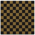 rug #220221 | square mid-brown check rug