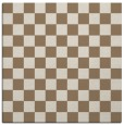 rug #220257 | square mid-brown check rug