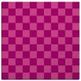 rug #220313   square pink check rug