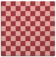 rug #220321 | square pink check rug