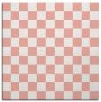 rug #220325   square white check rug
