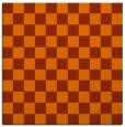 rug #220361 | square red-orange rug