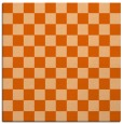 rug #220365 | square red-orange check rug
