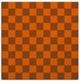 rug #220369 | square red-orange check rug