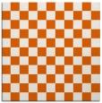 rug #220373 | square red-orange check rug