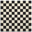 rug #220413 | square black check rug