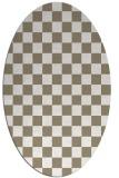 rug #220457 | oval white check rug