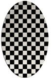 rug #220461 | oval white check rug