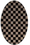 rug #220469 | oval beige check rug