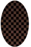 rug #220474   oval check rug