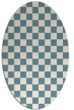 rug #220481 | oval white check rug