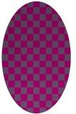 rug #220488   oval check rug