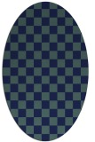 rug #220489 | oval blue retro rug