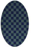 rug #220490   oval check rug