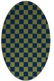 rug #220494 | oval check rug