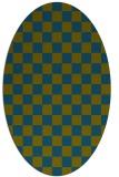 rug #220517 | oval check rug