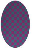 rug #220522 | oval check rug
