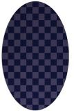 rug #220541 | oval blue-violet check rug