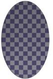 rug #220545 | oval blue-violet check rug