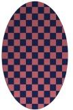 rug #220549 | oval blue-violet check rug