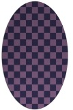 rug #220553 | oval purple graphic rug